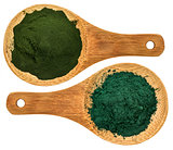 chlorella ans spirulina supplement powder