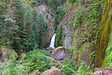 Wahclella Falls Aerial View