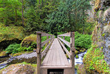 Wood Foot Bridge Over Creek