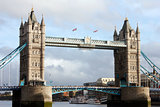 London - Tower Bridge with tourists