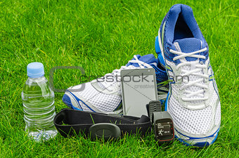 Modern sport equipment for running on the grass