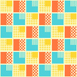 Abstract seamless pattern with geometrical objects.