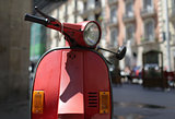 Old motor scooter