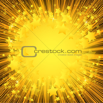 Abstract background with lines and stars.