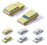 Vector isometric cars