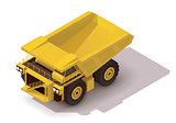 Vector isometric haul truck