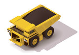 Vector isometric haul truck