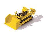 Vector isometric mining bulldozer