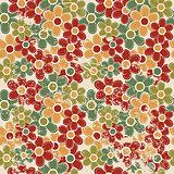 Grunge vintage floral seamless