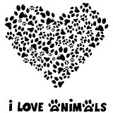 I love animals card