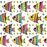 Patterned fishes seamless