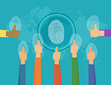 People fingerprints