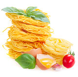 Tonarelli and  tagliatelle raw pasta