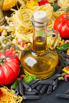 Olive oil with pasta