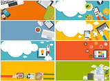 Modern Flat Design Banner Set for your Business Vector Illustrat
