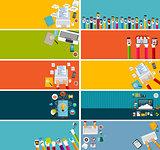 Modern Flat Design Banner for your Business Vector Illustration