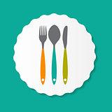 Restaurant Menu Label Template Vector Illustration