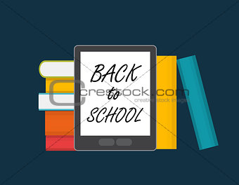 Back to School Label Concept Illustration.