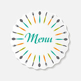 Restaurant Menu Background  Template Vector Illustration