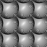 Design seamless monochrome circular pattern