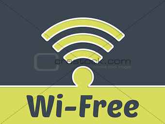 Free wireless connection advertising background