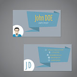 Business card with origami speech bubble