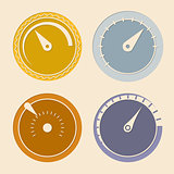 Cool flat download speedometers