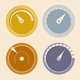 Cool flat download speedometers