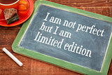 I am not perfect but limited edition