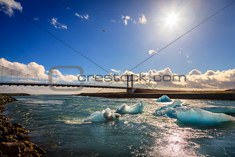 Bridge over Jokulsarlon Lagoon