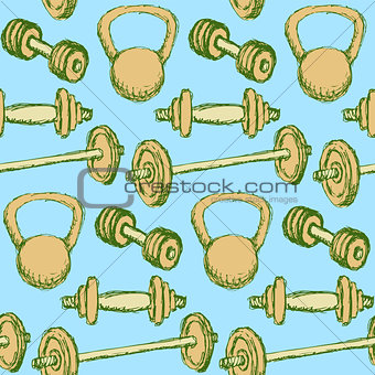 Sketch weights  in vintage style