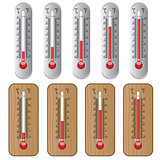 Set of thermometers.