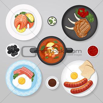 Food business flat lay idea