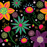 Colorful Flower Seamless Pattern Background