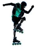 man Roller Skater inline   silhouette