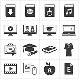 set of online education icon