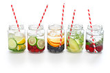 detox water on white background