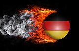 Flag with a trail of fire and smoke - Germany