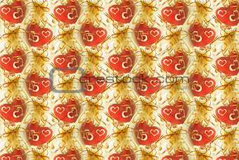Background of Love hearts
