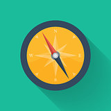 Orange compass circle icon