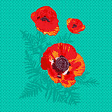 poppies pop art card