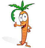 fun carrot cartoon isolated on white background