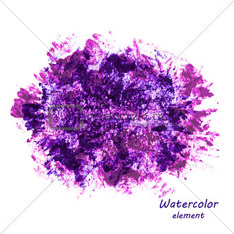 Watercolor vector background.