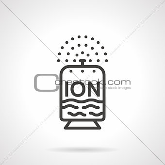 Flat line design ionizer vector icon