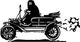 Woman in Hijab or Burka driving a Car