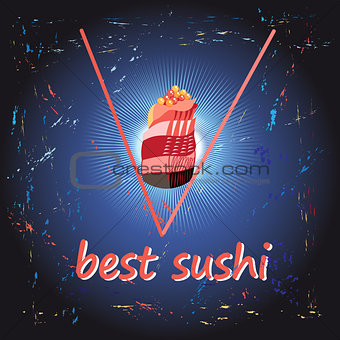Poster Best sushi