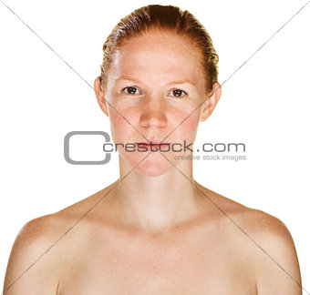 Calm Lady with Bare Shoulders