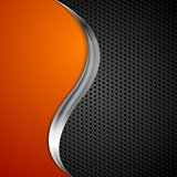 Metal wave and black perforated texture background