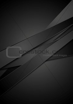 Black stripes tech vector background