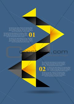 Abstract flat geometric infographics vector design